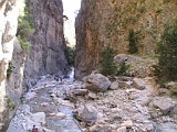 Approaching the narrowest part of Samaria Gorge
